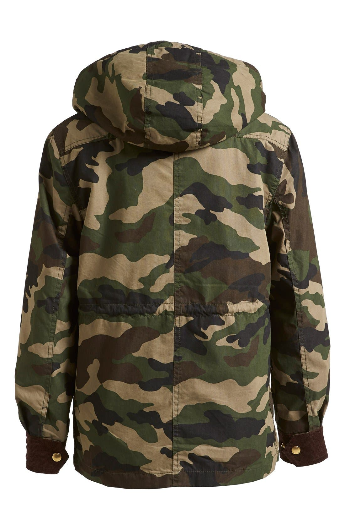 Alternate Image 6  - izzue Hooded Camouflage Jacket (Women)
