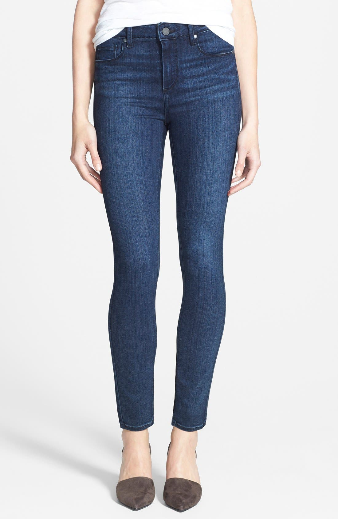 Alternate Image 1 Selected - Paige Denim 'Transcend - Hoxton' High Rise Ankle Jeans (Valor)