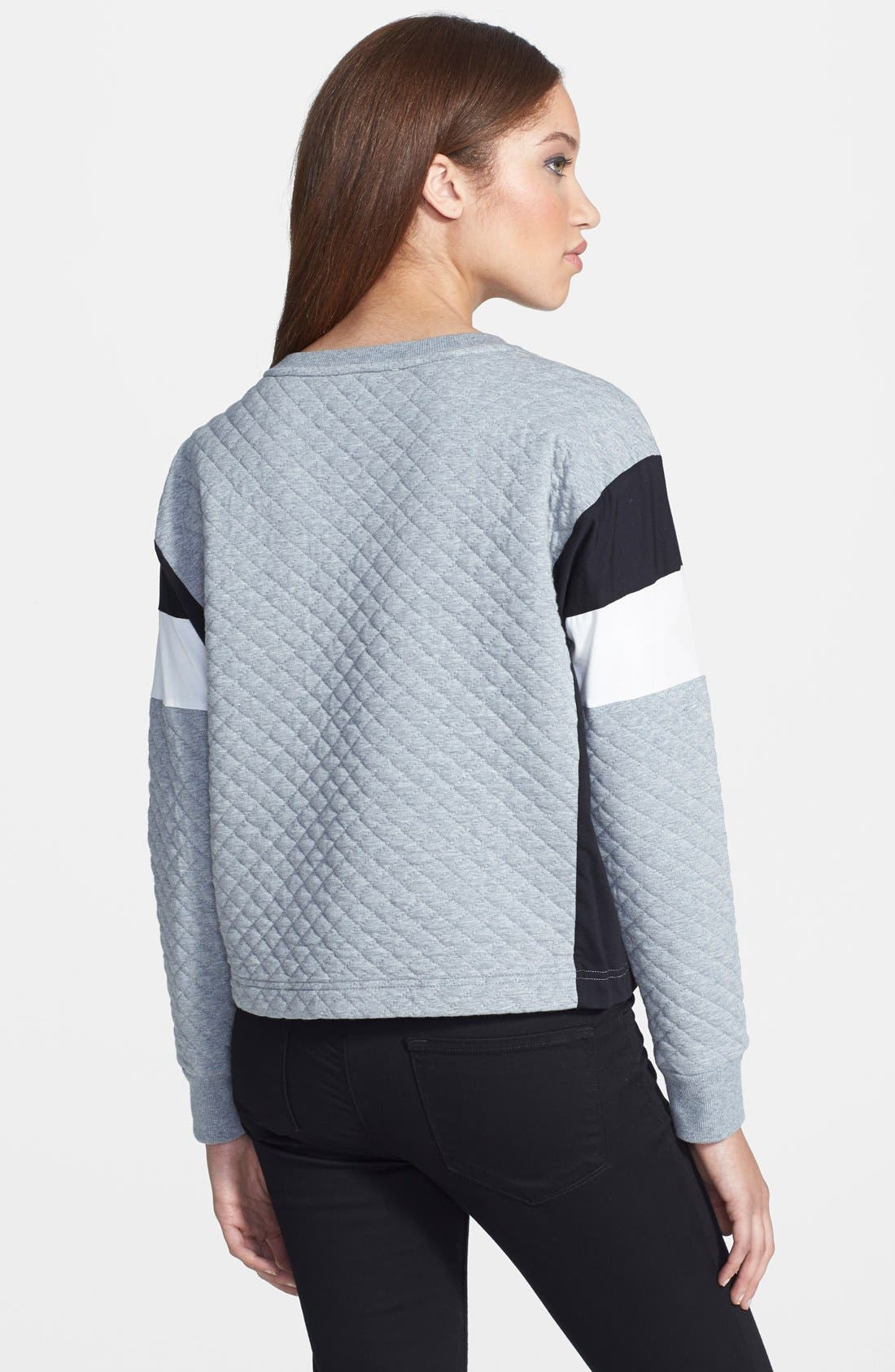 Alternate Image 2  - Two by Vince Camuto Colorblock Quilted Sweatshirt