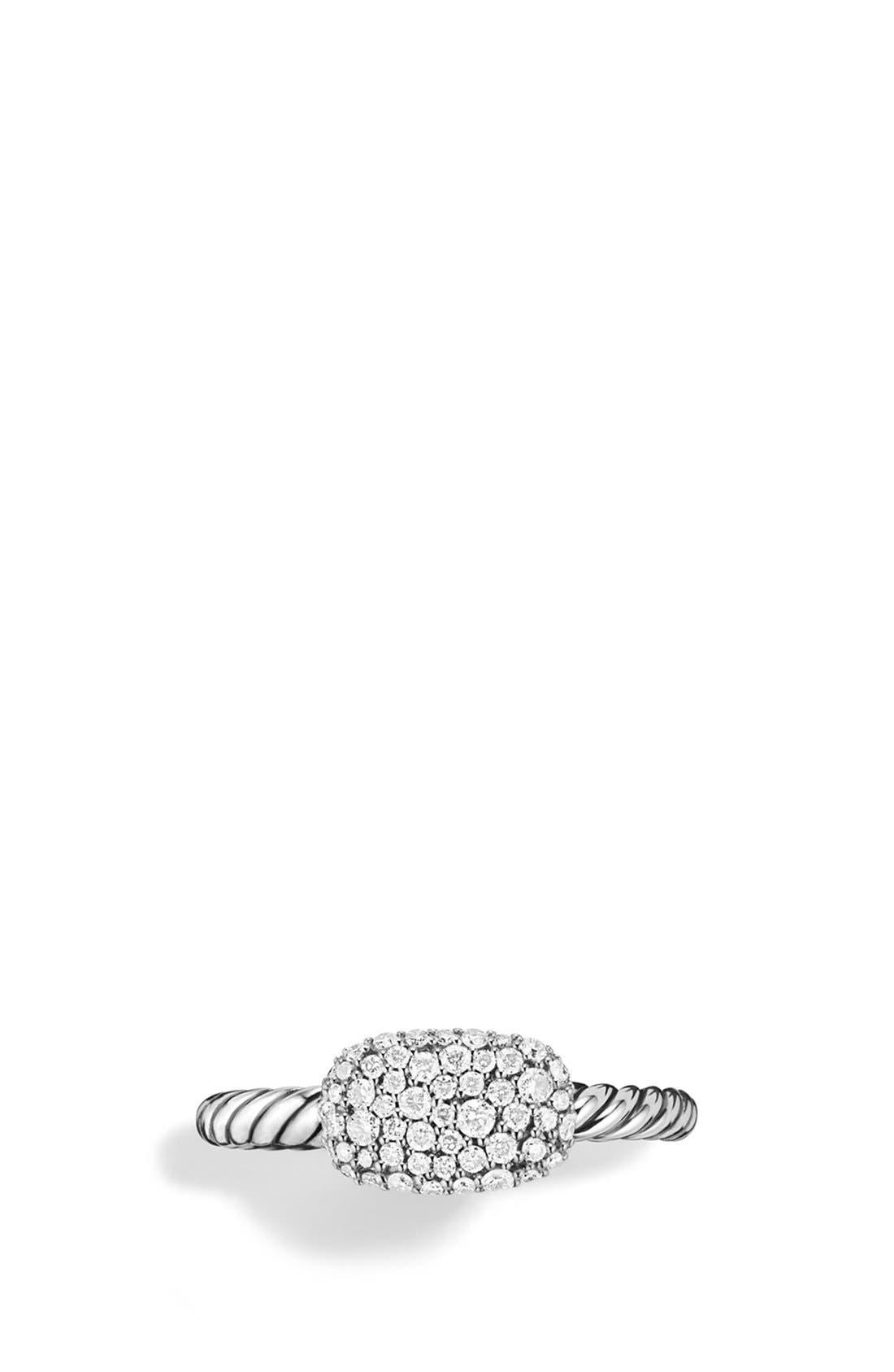 Alternate Image 3  - David Yurman 'Petite' Pavé Cushion Ring with Diamonds