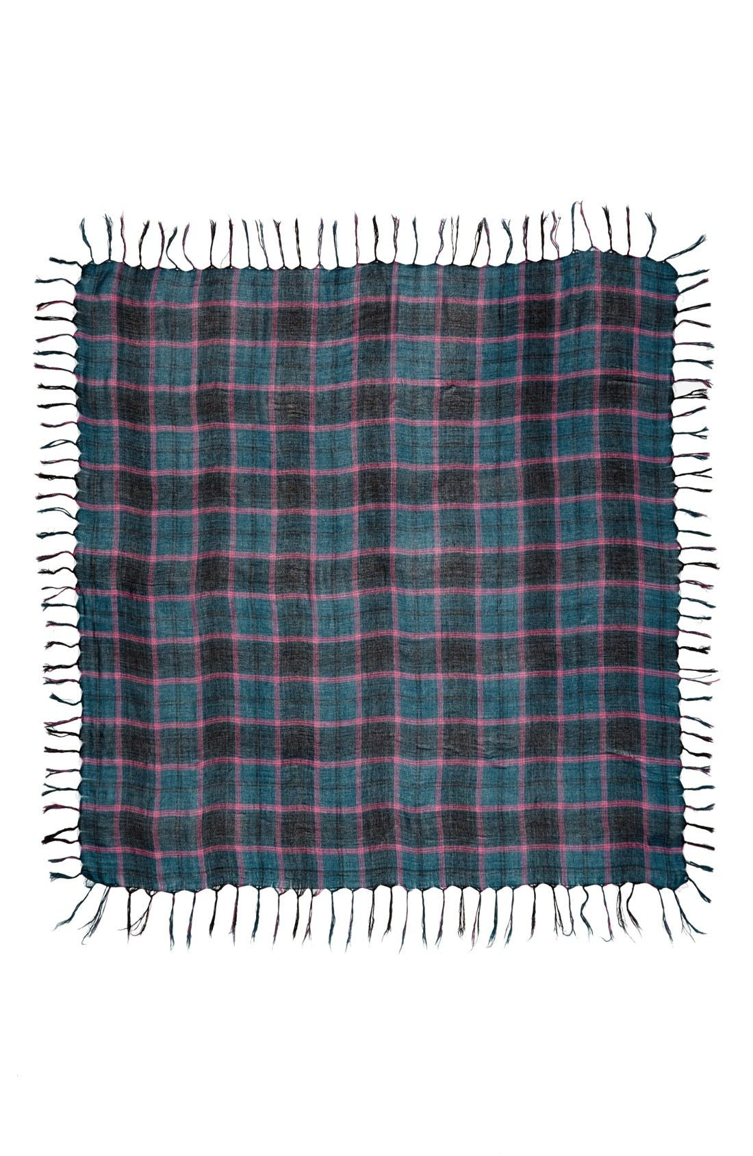 Alternate Image 2  - David & Young Plaid Square Scarf (Juniors)