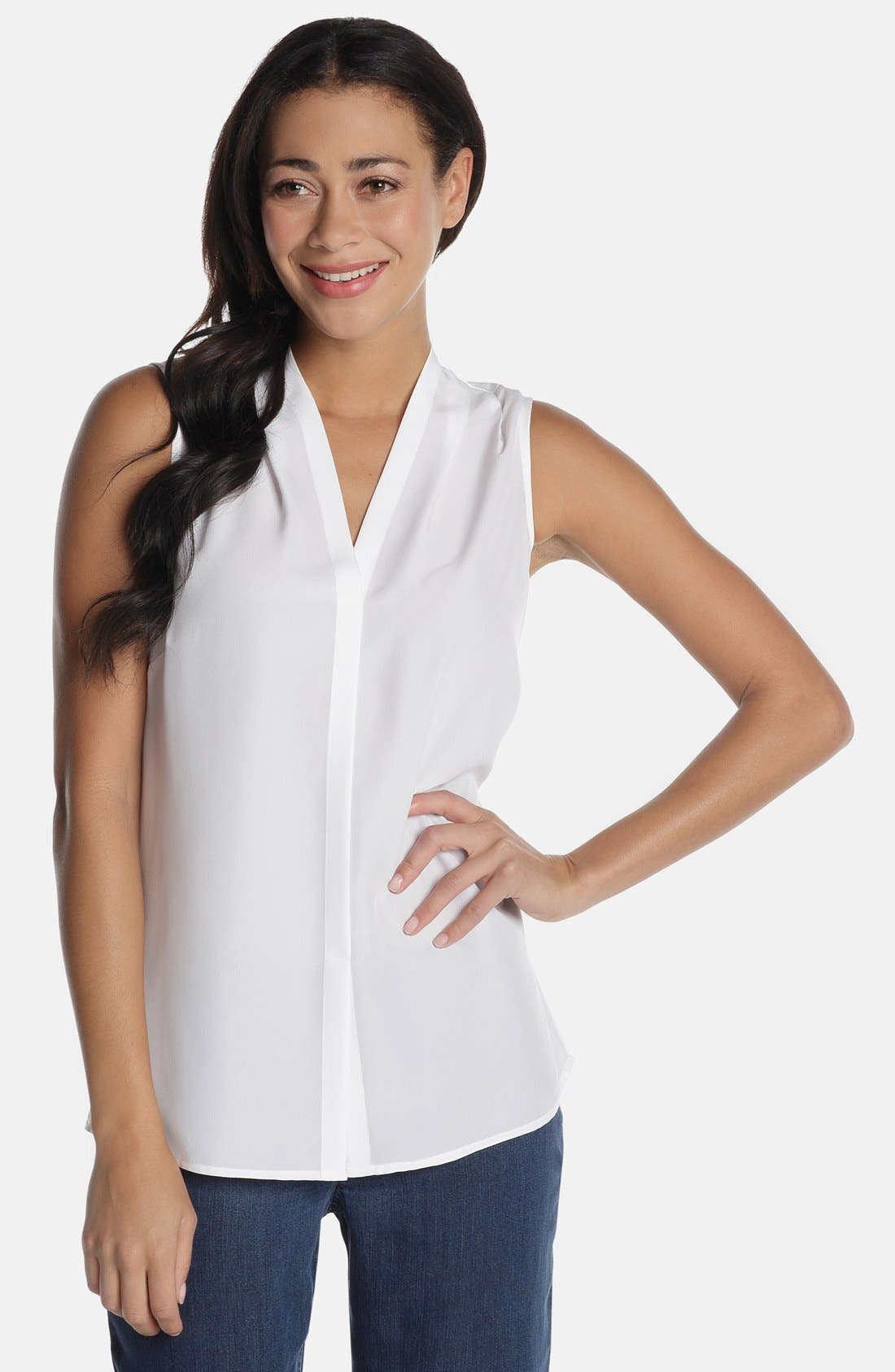 Day to Night Top,                         Main,                         color, Paper White