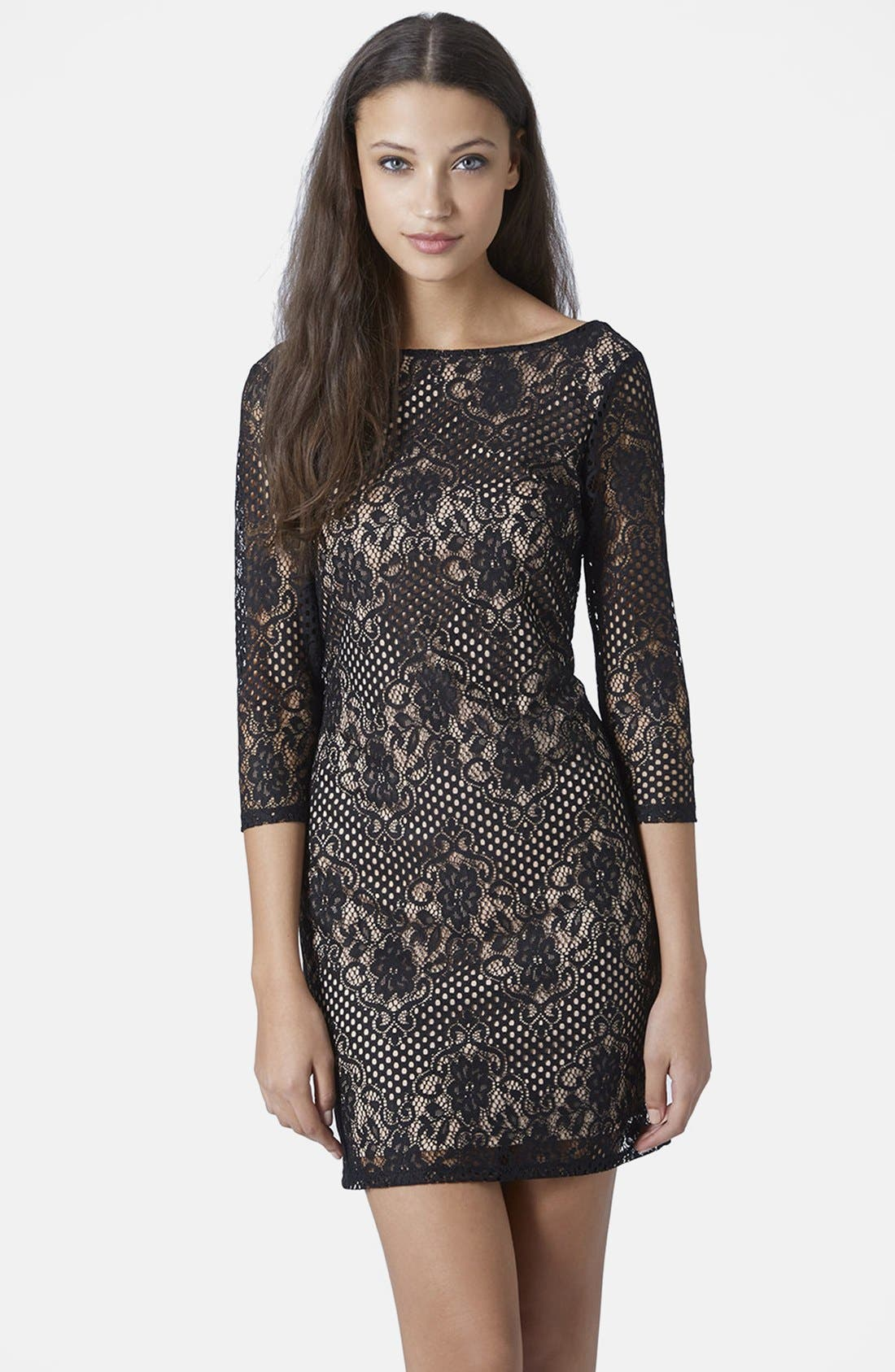 Alternate Image 1 Selected - Topshop Scallop Lace Body-Con Dress