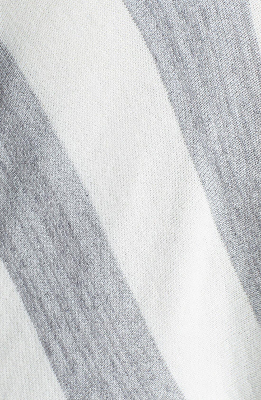 Alternate Image 3  - DKNYC Stripe Asymmetrical V-Neck Pullover