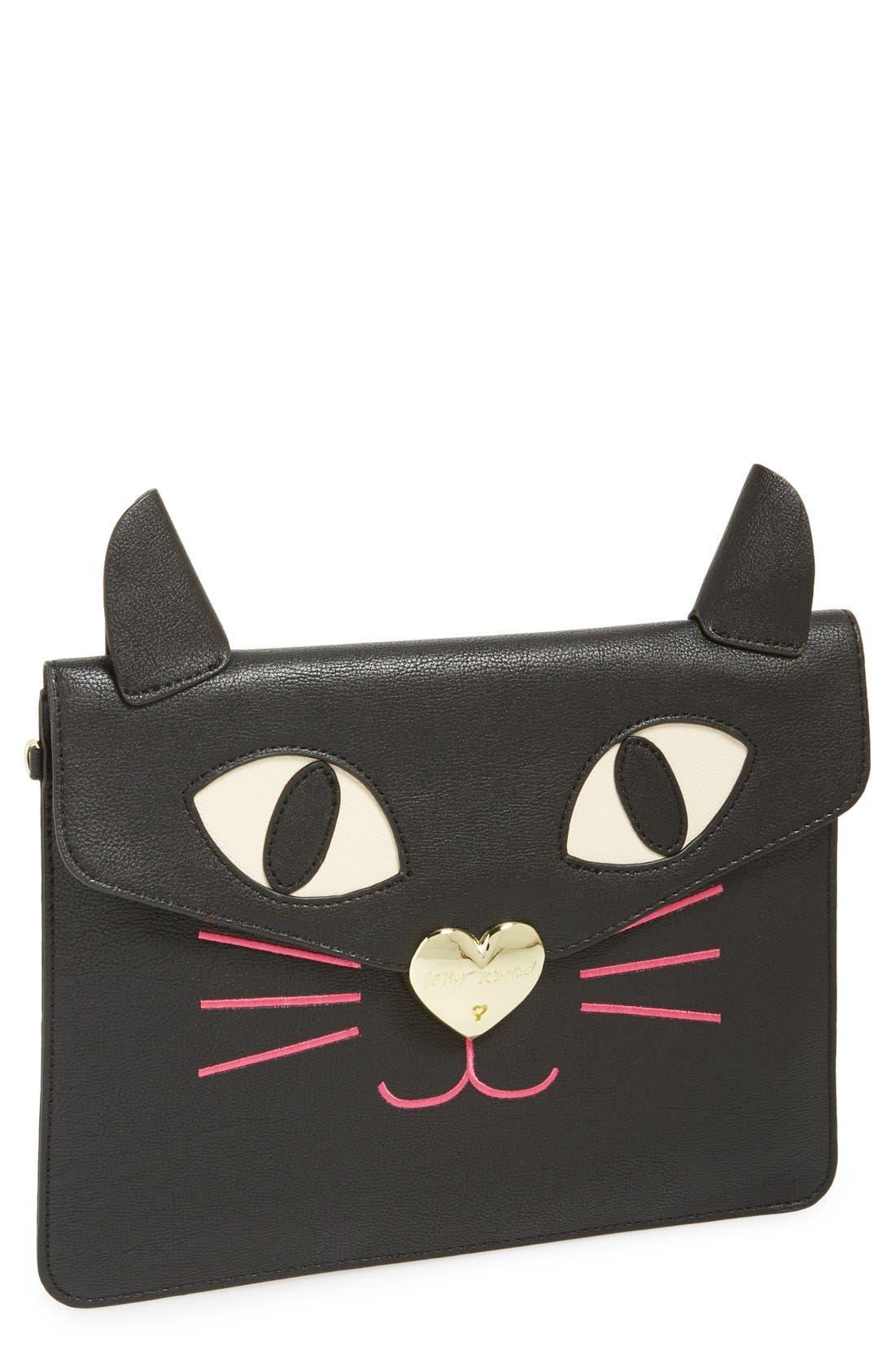 Main Image - Betsey Johnson Cat Clutch