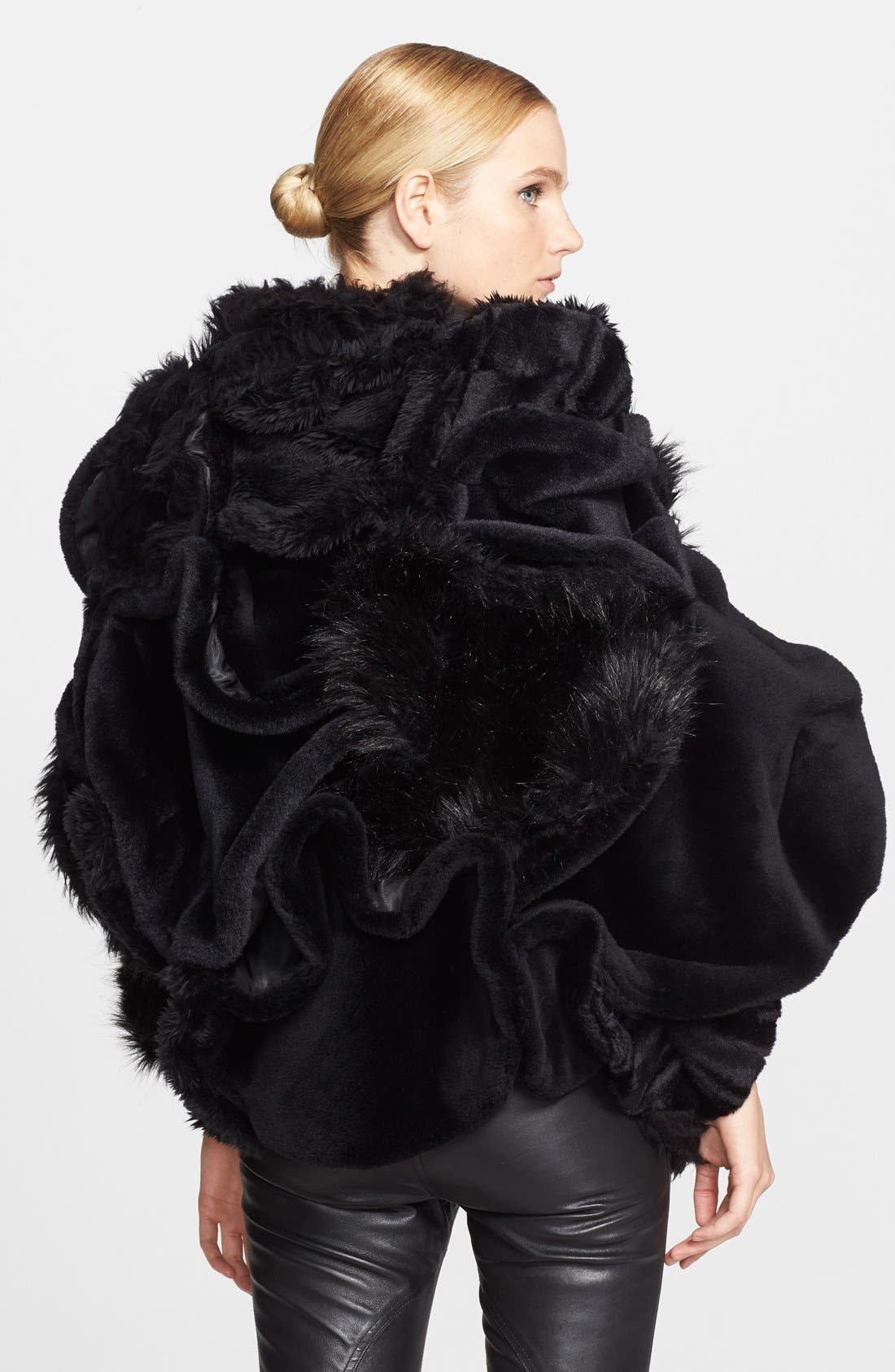 Alternate Image 2  - Junya Watanabe Faux Fur Cape