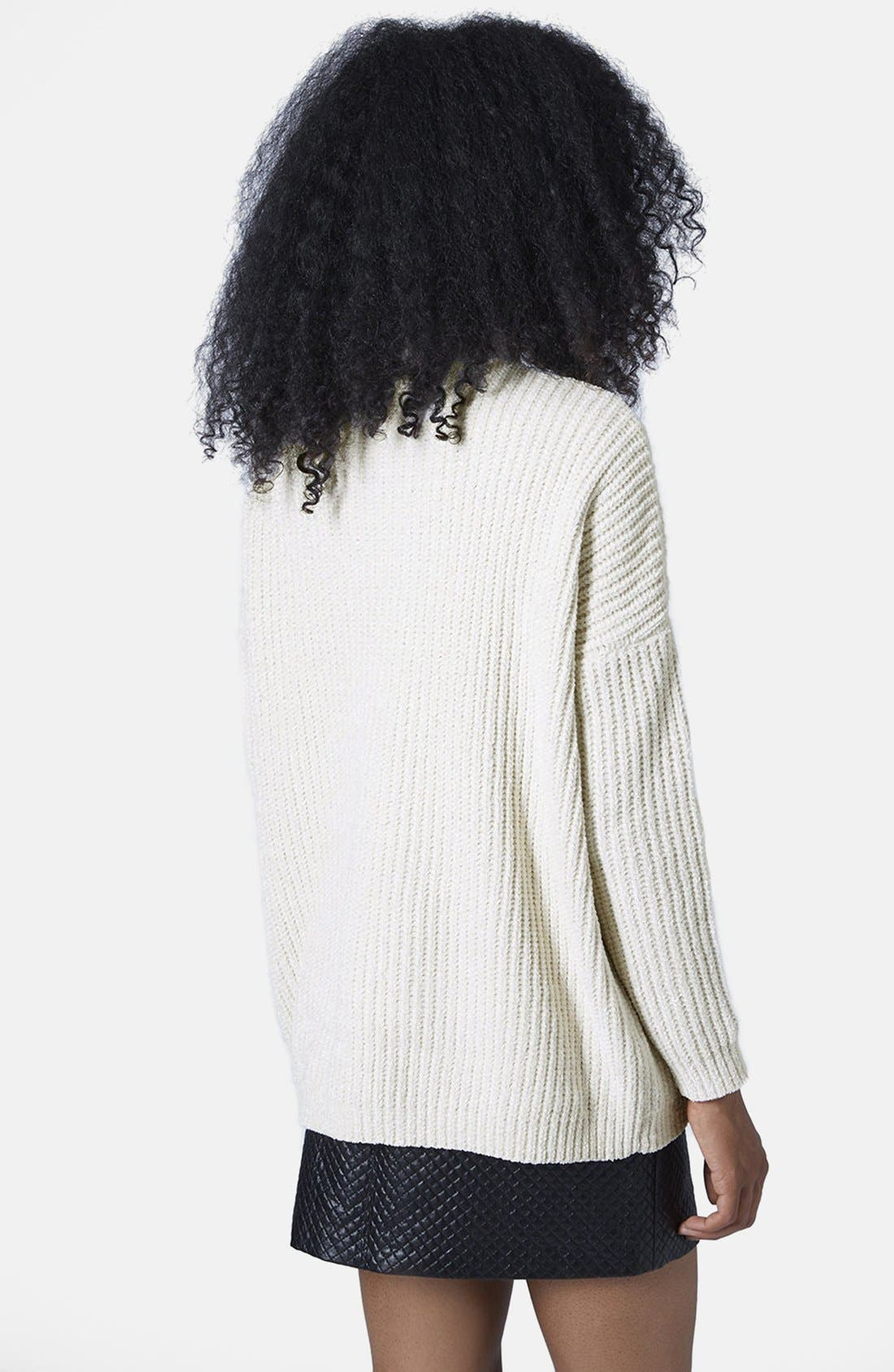 Alternate Image 2  - Topshop Slouchy Chenille Sweater