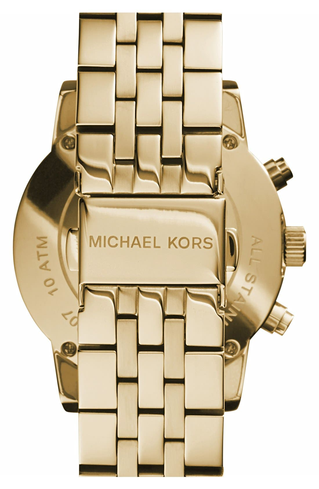 Alternate Image 2  - Michael Kors 'The Ritz' Chronograph Bracelet Watch, 36mm
