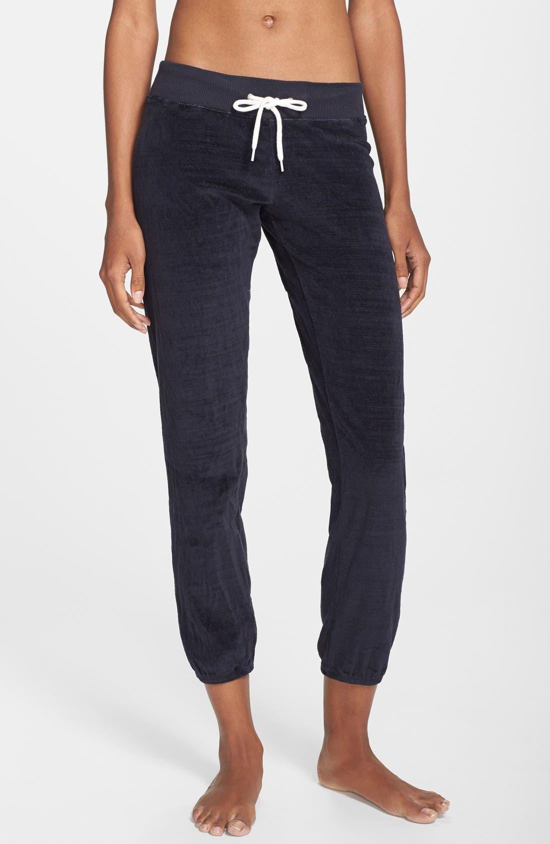 Main Image - Monrow 'Cosmic' Vintage Velour Sweatpants