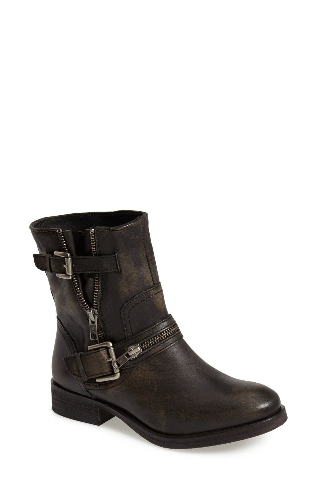 Alternate Image 1 Selected - Hinge 'Compadre' Leather Moto Boot (Women)