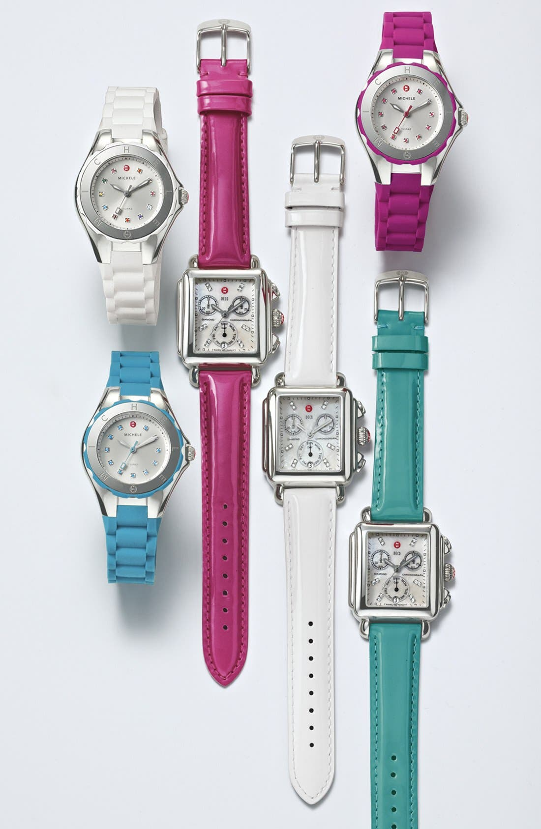 Alternate Image 3  - MICHELE 'Tahitian Jelly Bean Petite' Silicone Strap Watch, 35mm
