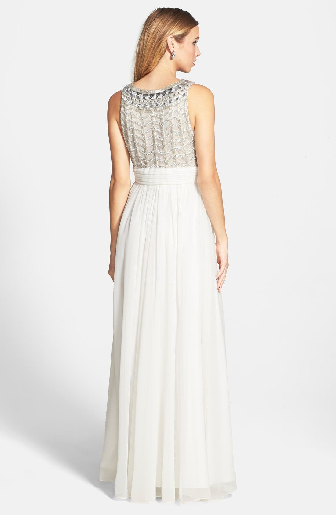 Alternate Image 2  - JS Collections Embellished Chiffon Gown