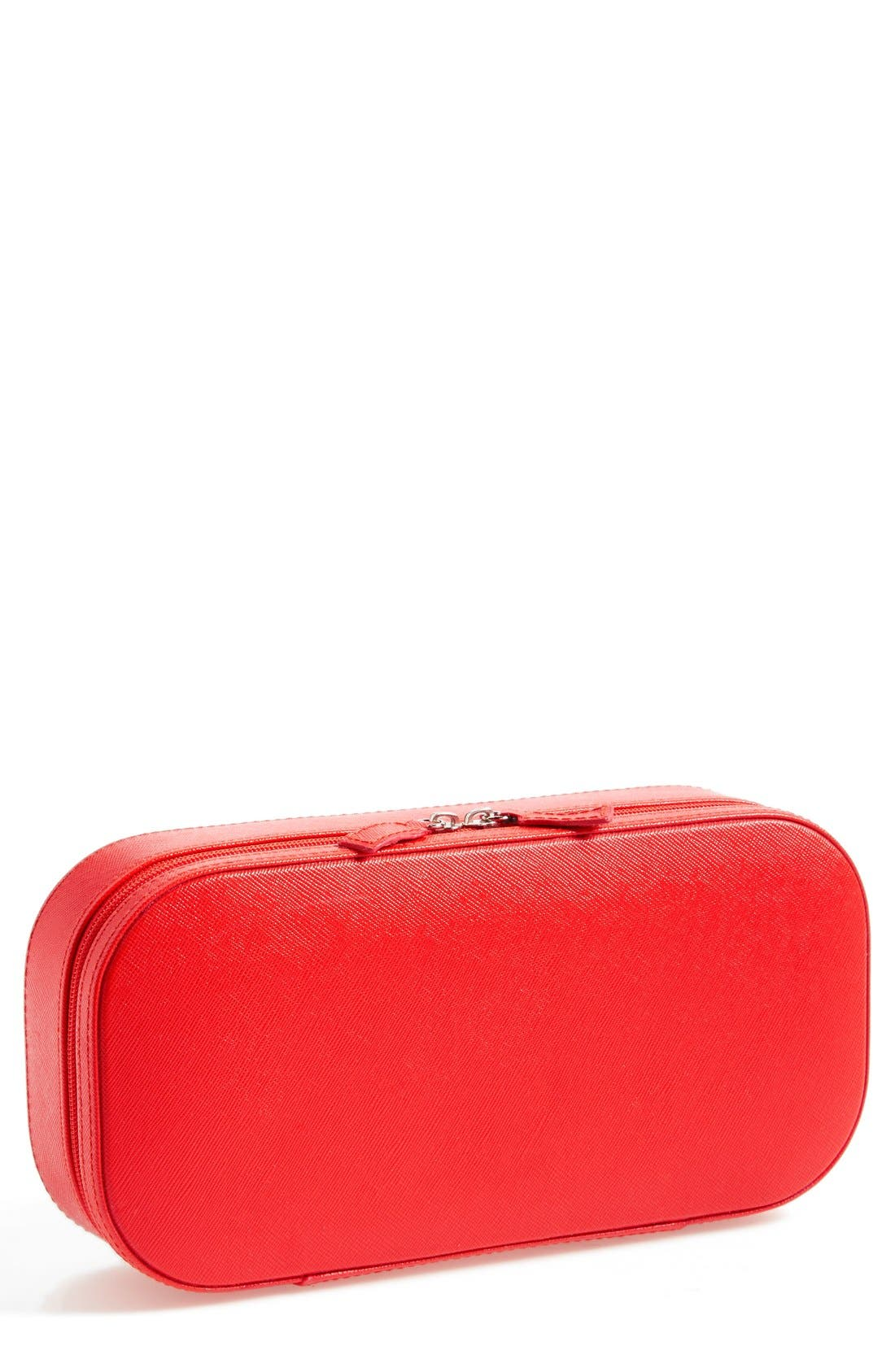 Travel Jewelry Case,                         Main,                         color, Red