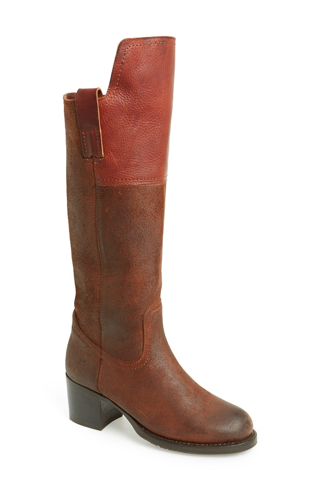 Main Image - Frye 'Autumn Shield' Tall Suede & Leather Boot (Women)