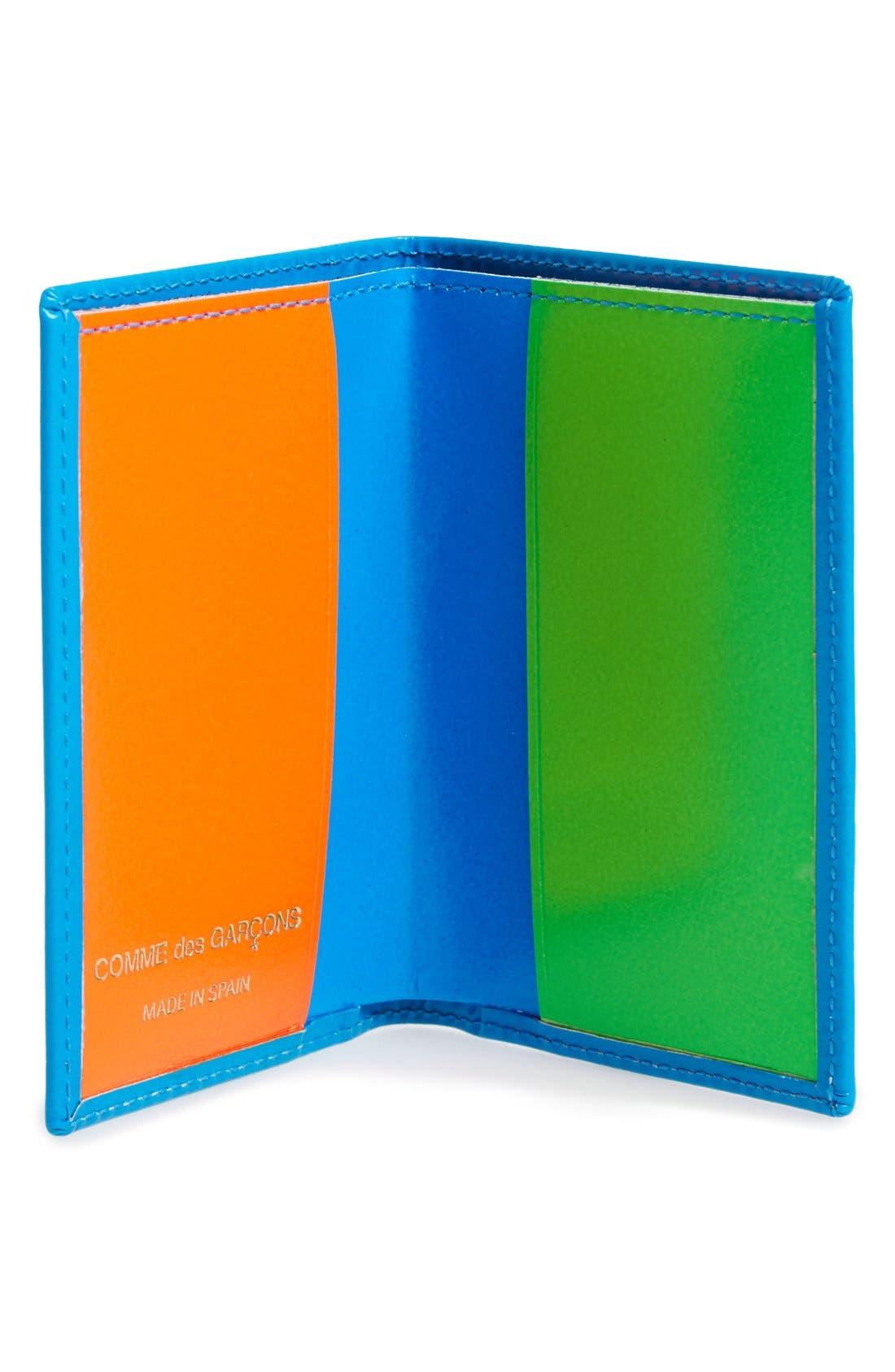 Alternate Image 2  - Comme des Garçons 'Super Fluo' Leather Card Case