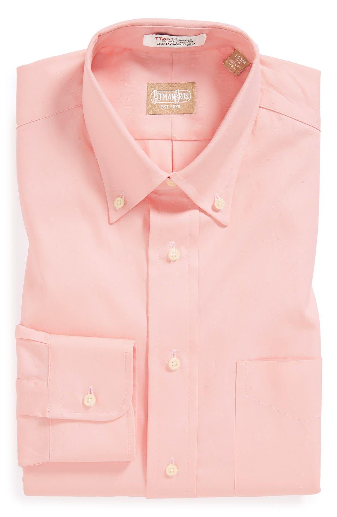 Gitman Regular Fit Pinpoint Cotton Oxford Button Down Dress Shirt