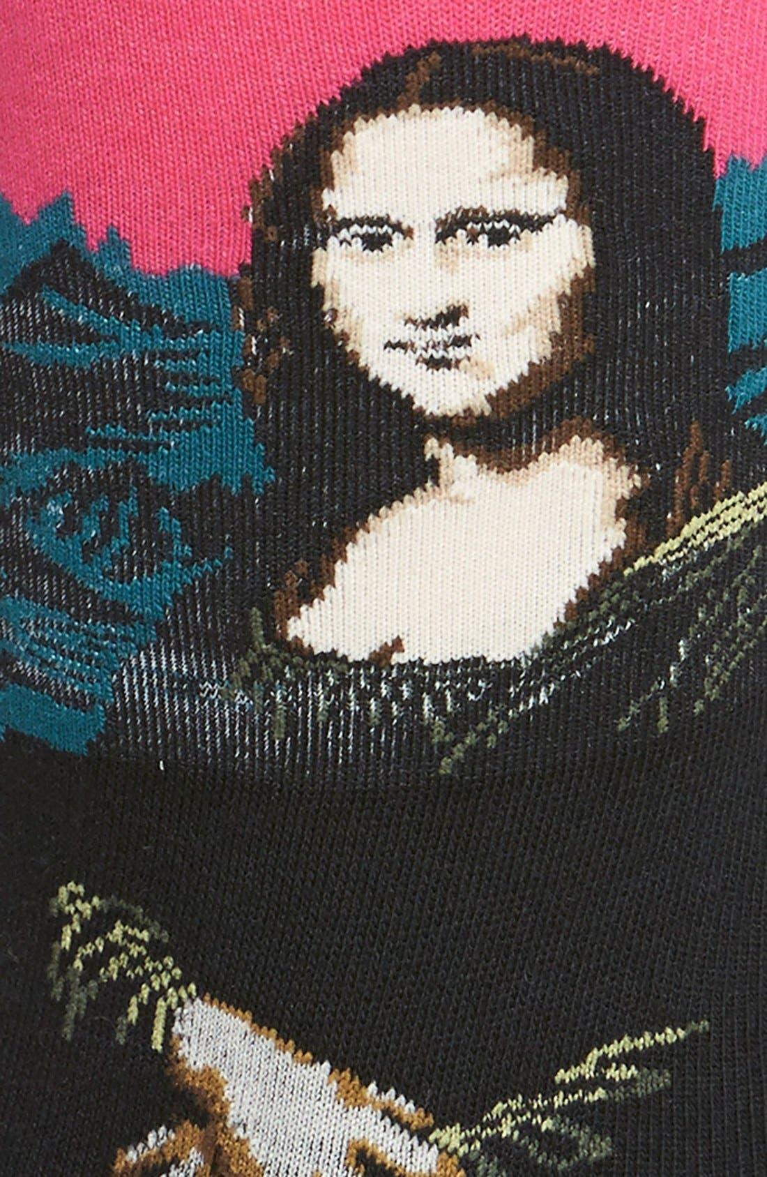 Alternate Image 2  - Hot Sox 'Mona Lisa' Socks