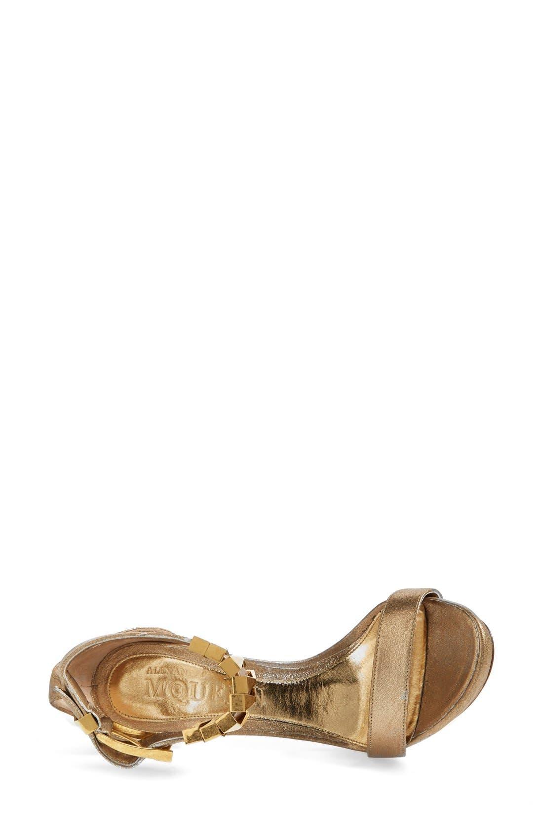 Alternate Image 3  - Alexander McQueen Metal Heel Sandal (Women)
