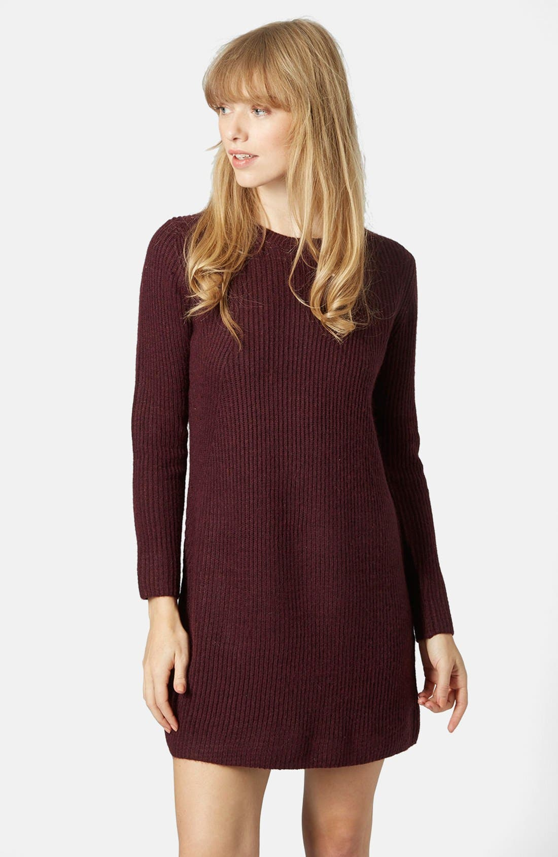 Alternate Image 1 Selected - Topshop Rib Knit Sweater Dress