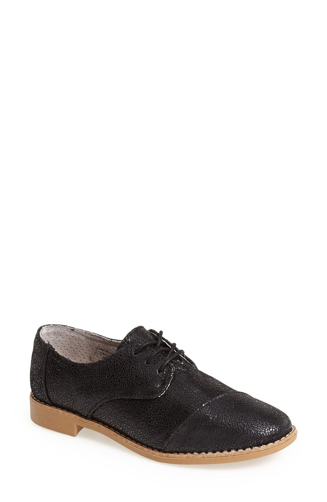 Alternate Image 1 Selected - TOMS Leather Brogue Oxford (Women)