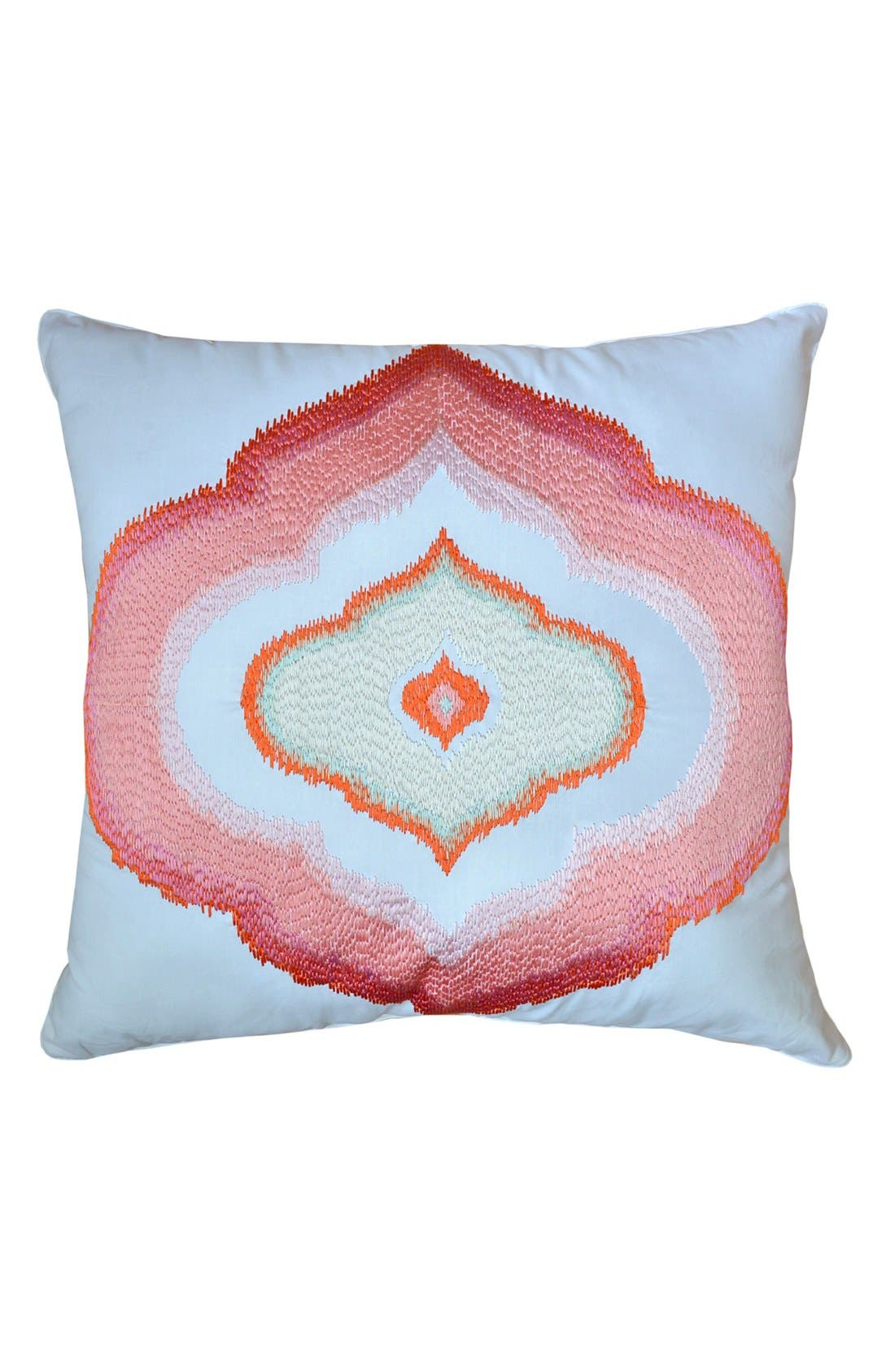 Main Image - Dena Home 'Retreat' Embroidered Square Pillow
