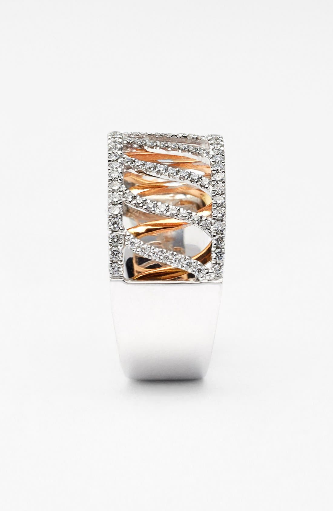 Alternate Image 2  - Bony Levy Wide Two-Tone Diamond Ring (Limited Edition) (Nordstrom Exclusive)