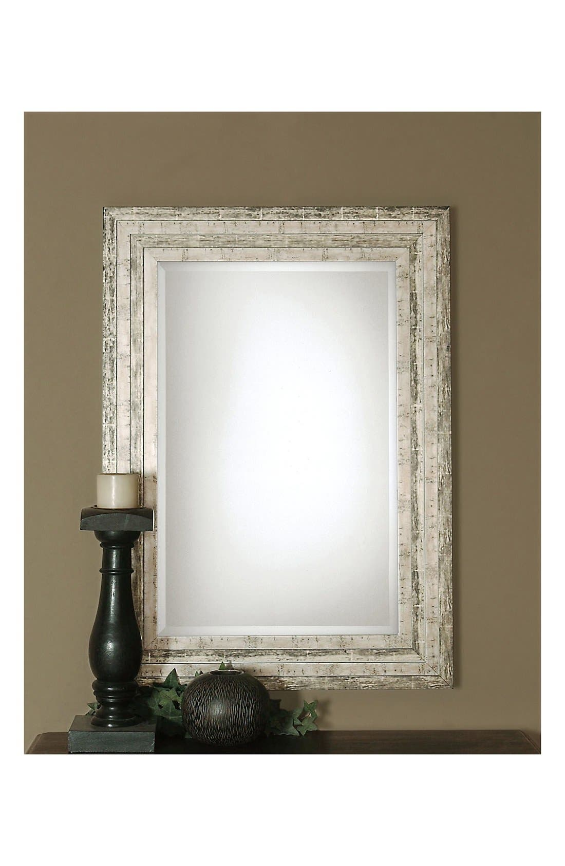 'Hallmar' Wall Mirror,                             Alternate thumbnail 3, color,                             Silver