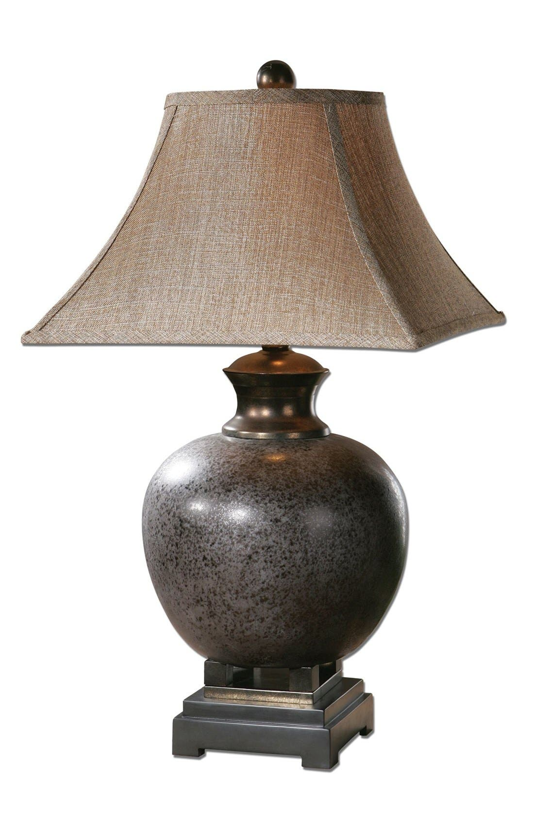 'Villaga' Ceramic Table Lamp,                             Main thumbnail 1, color,                             Grey