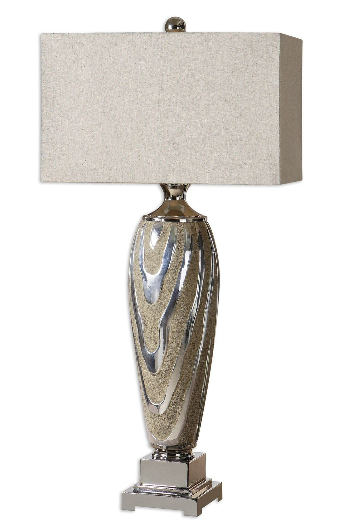 'Allegheny' Ceramic Table Lamp,                             Main thumbnail 1, color,                             Grey