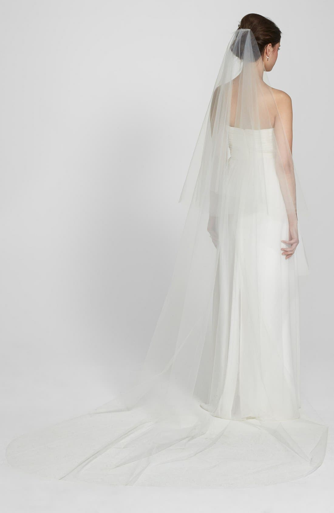 Two-Tier Cathedral Veil,                             Alternate thumbnail 3, color,                             Ivory
