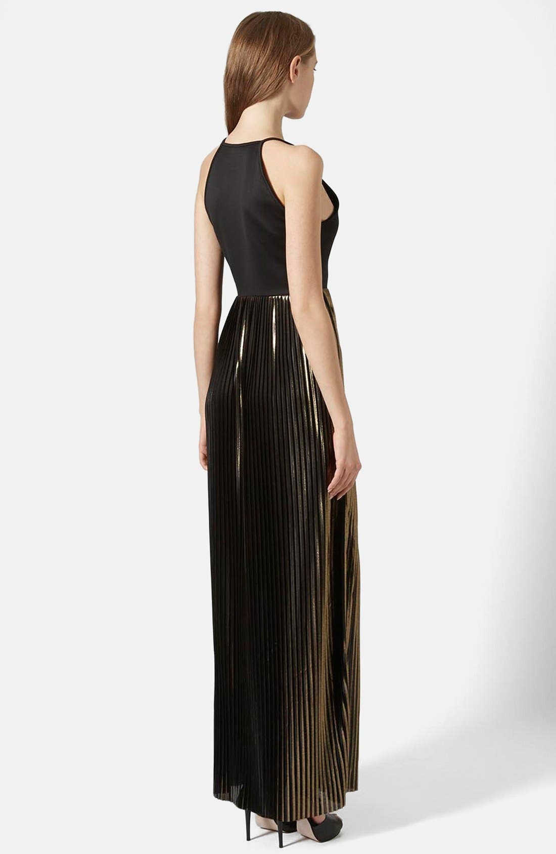 Alternate Image 2  - Topshop Strappy Pleated Maxi Dress
