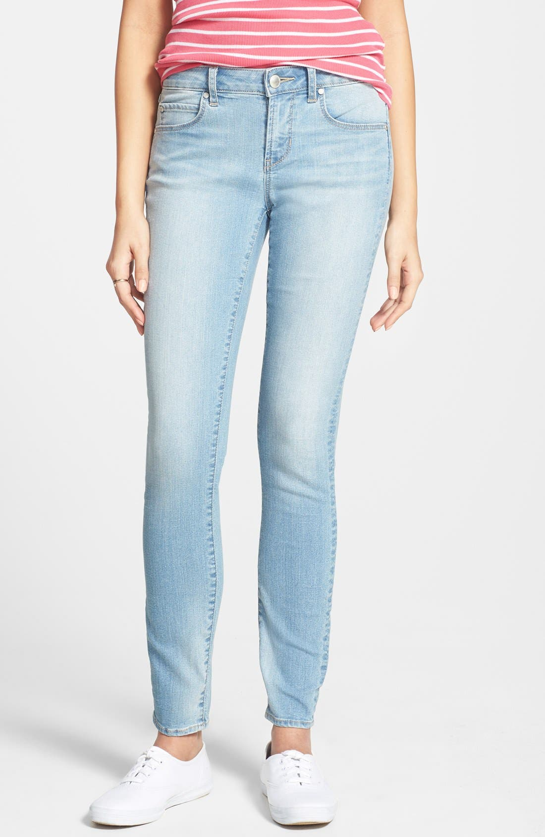 'Sarah' Skinny Jeans,                             Main thumbnail 1, color,                             Light Wash