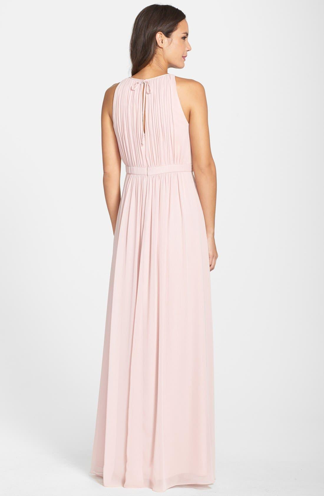 Alternate Image 2  - Eliza J Embellished Chiffon Gown (Petite)