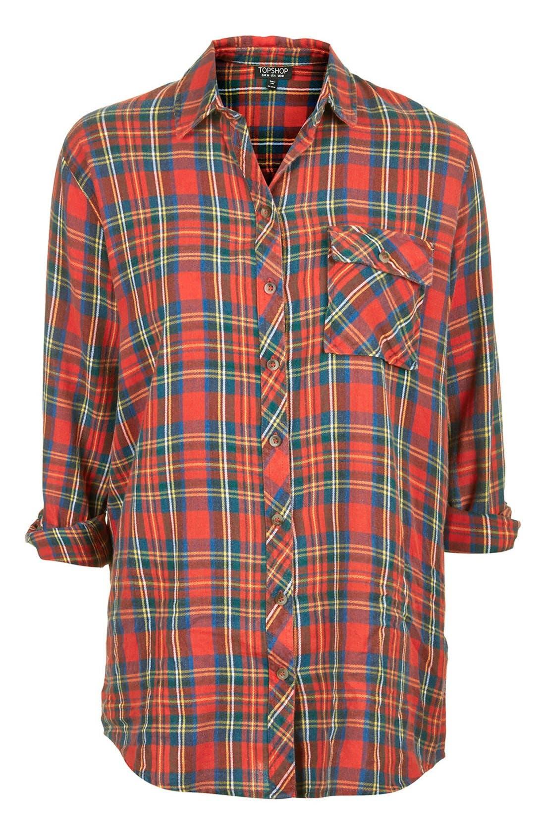 Alternate Image 3  - Topshop 'Marvin' Oversize Check Shirt