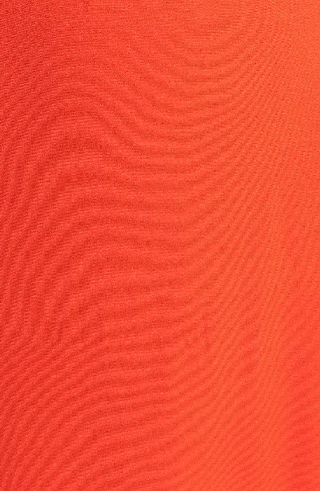 Alternate Image 3  - City Chic 'Grecian' Faux Leather Trim Keyhole Maxi Dress (Plus Size)