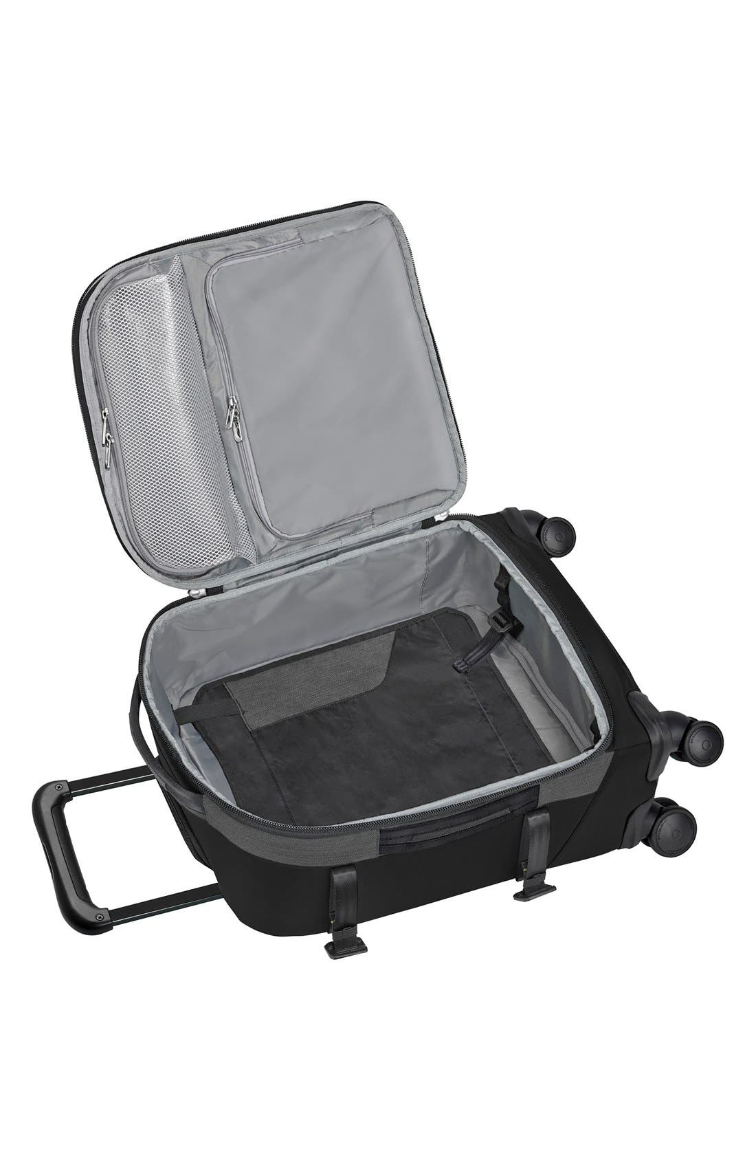 'Explore' Wheeled Domestic Spinner Carry-On,                             Alternate thumbnail 2, color,                             Black