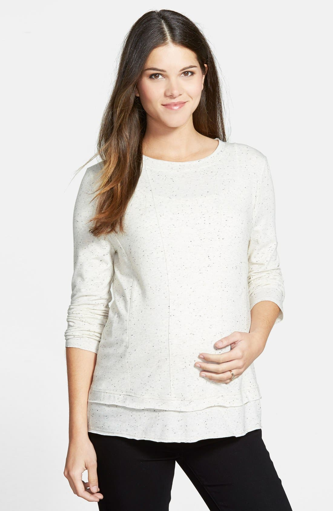 Loyal Hana 'Christy' Long Sleeve Maternity/Nursing Top