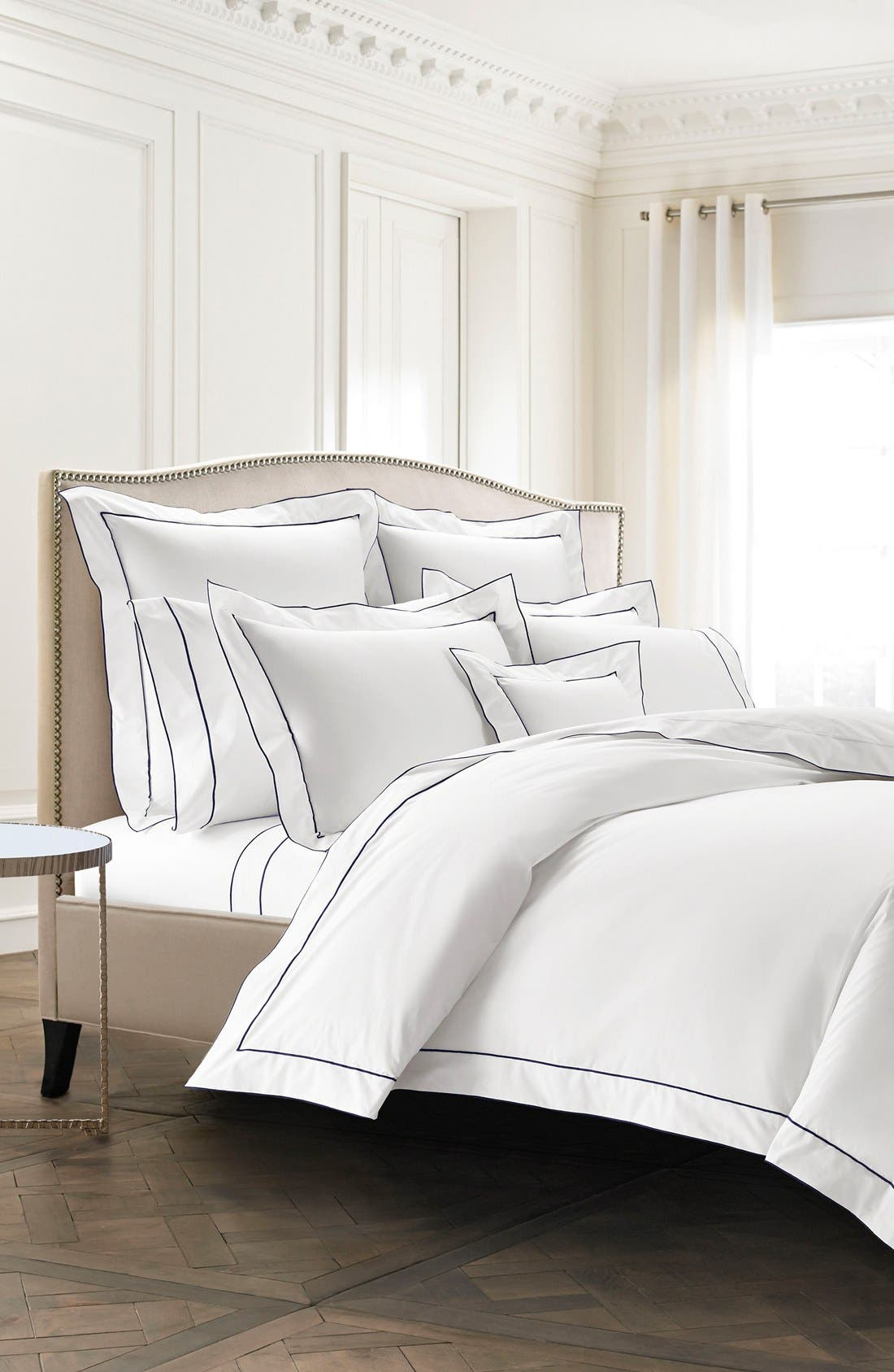 Alternate Image 2  - KASSATEX Sorrento 200 Thread Count Flat Sheet