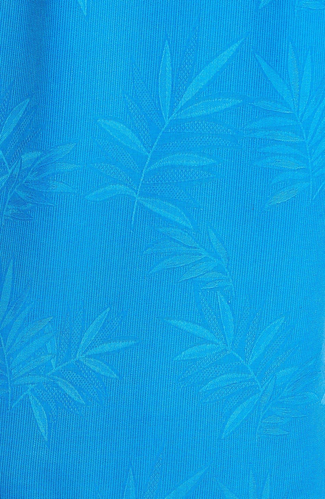 Luau Floral Silk Shirt,                             Alternate thumbnail 5, color,                             Download Blue