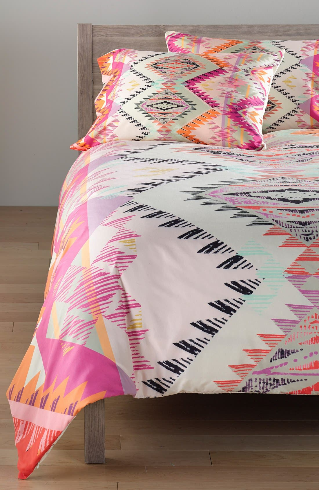 Pattern State Marker Sun Duvet Cover & Sham Set,                             Main thumbnail 1, color,                             Pink