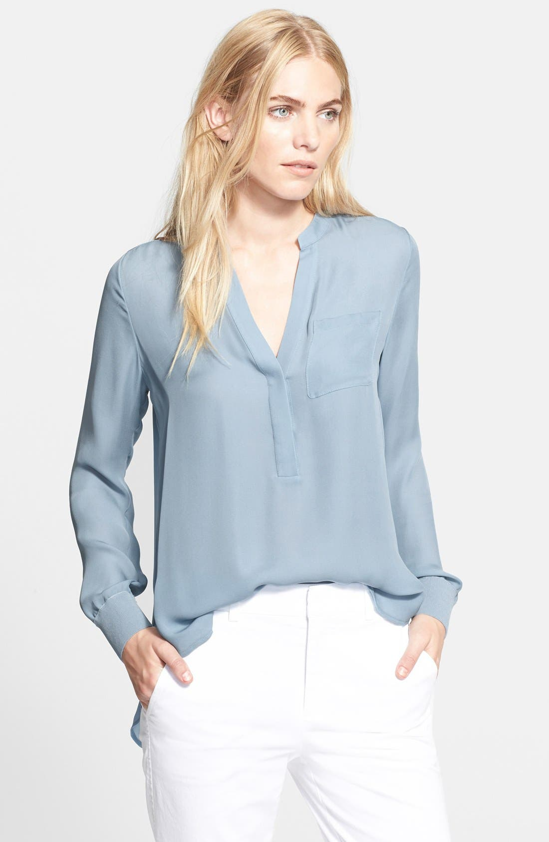 Vince Half Placket Blouse Nordstrom