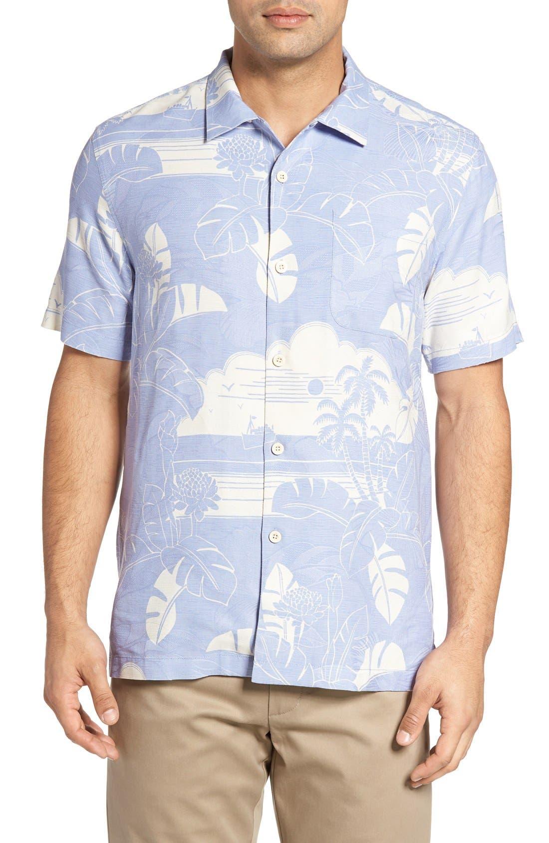 Alternate Image 1 Selected - Tommy Bahama Bon Voyage Isle Silk Shirt