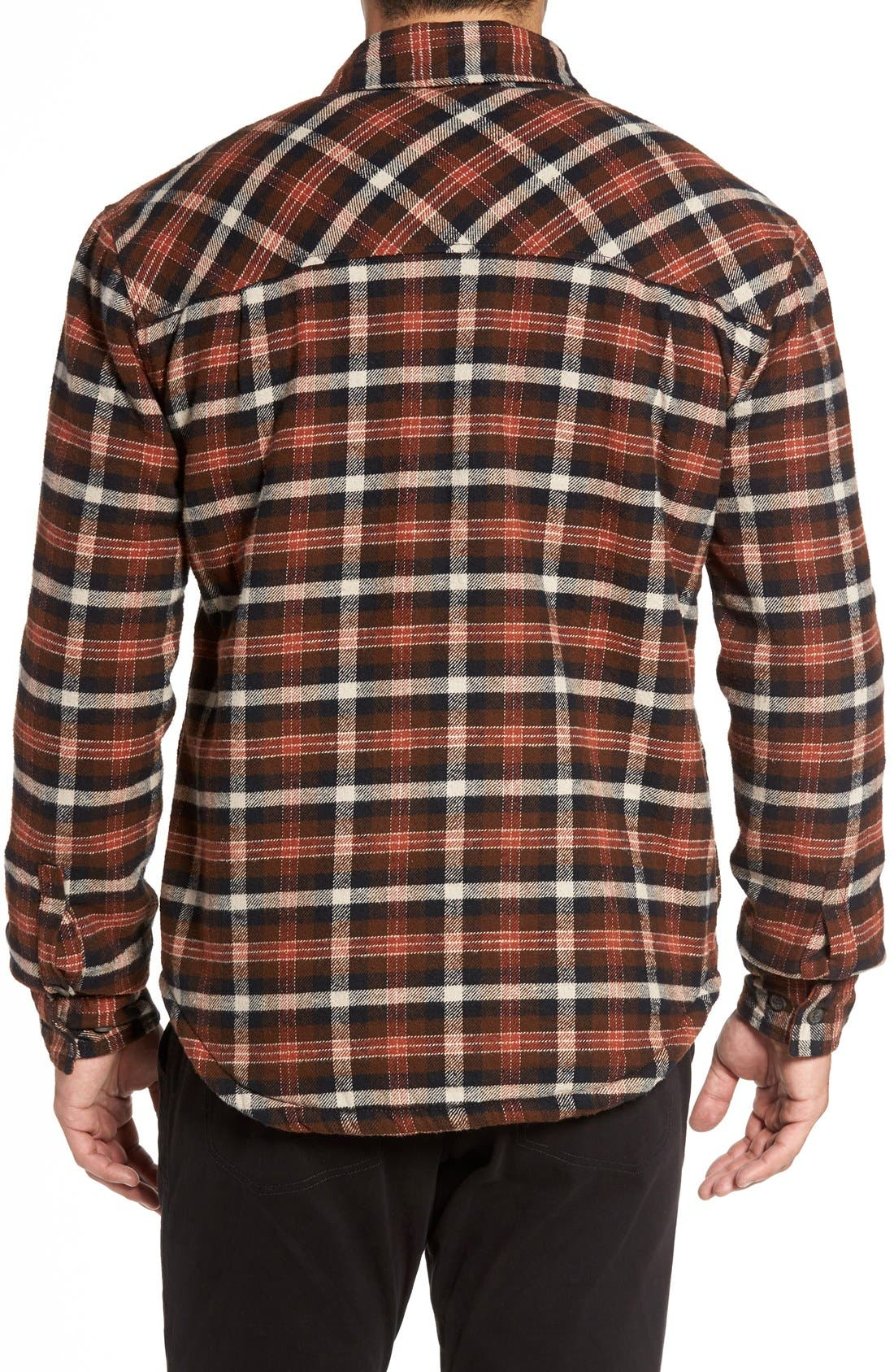 Alternate Image 2  - Gramicci Campfire Fleece Lined Shirt Jacket with Faux Shearling