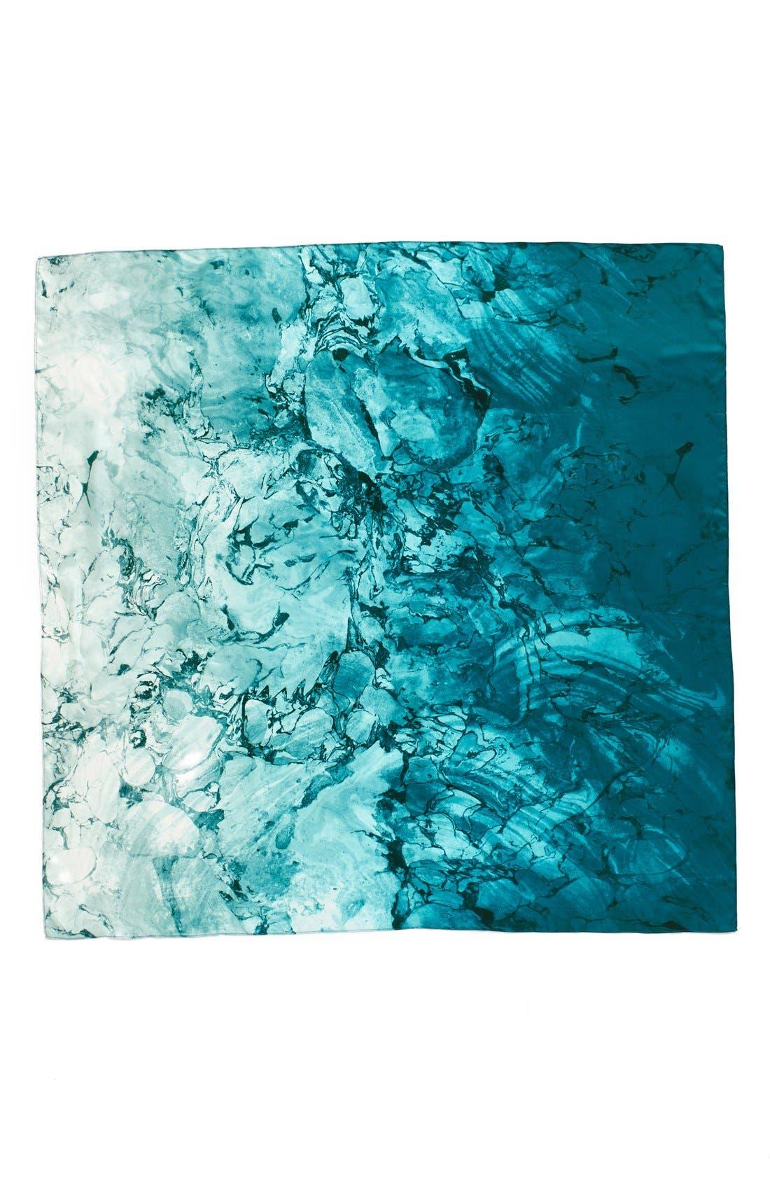 Alternate Image 2  - Nordstrom Studies in Oils Square Silk Scarf