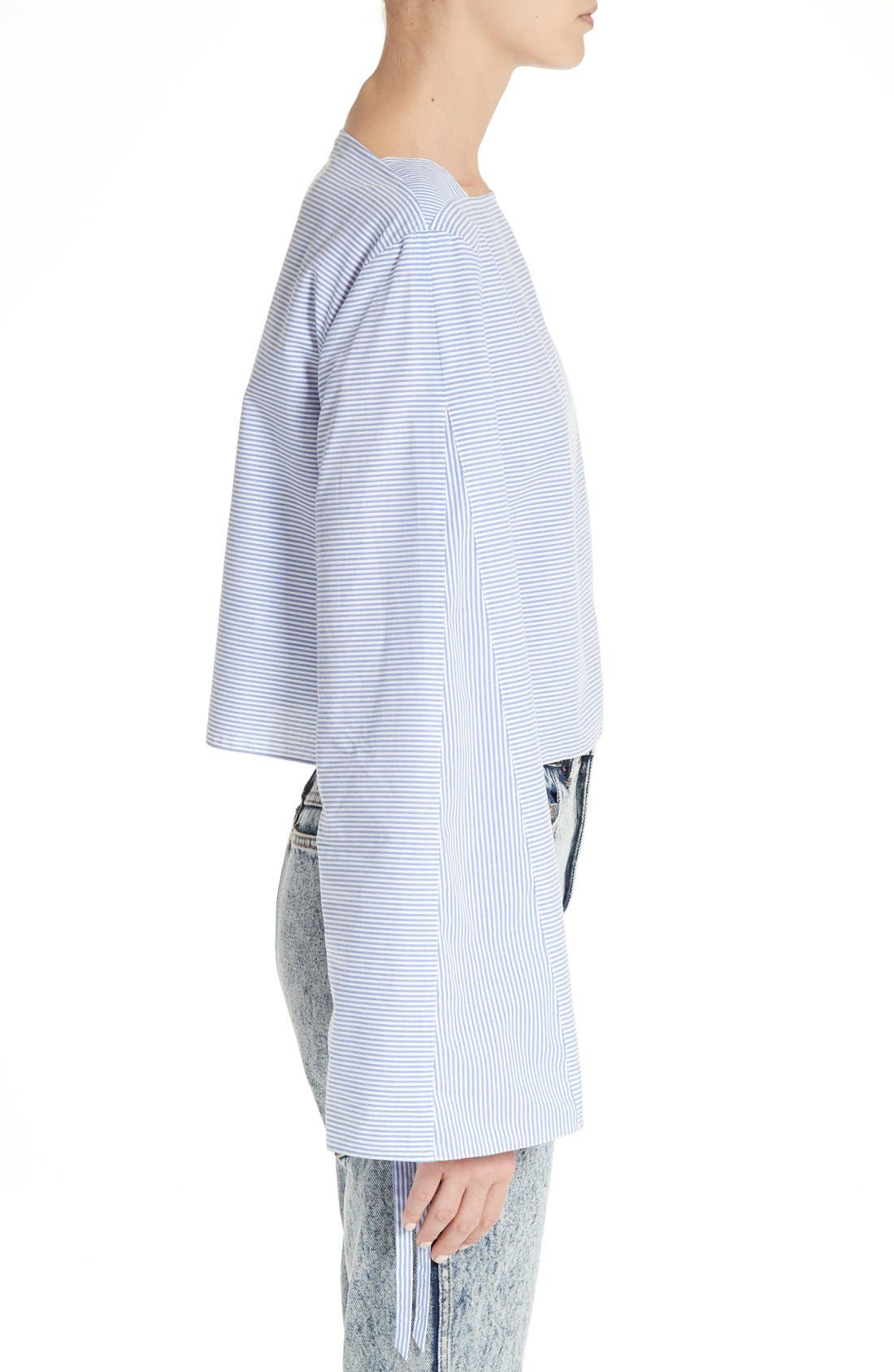 Alternate Image 5  - Tibi Elliot Stripe Bell Sleeve Top