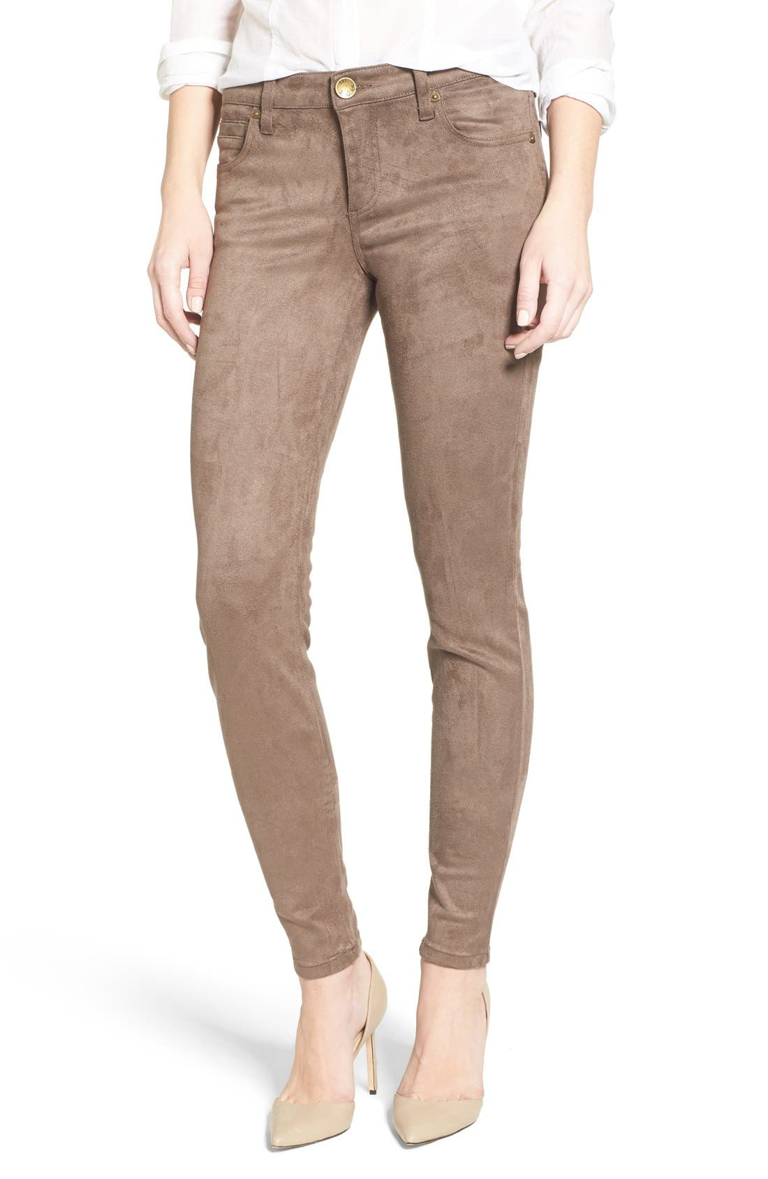 KUT from the Kloth Mia Faux Suede Skinny Jeans