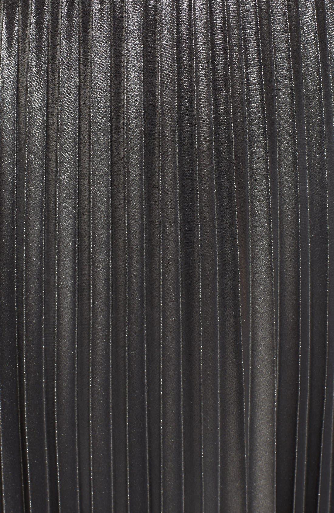 Alternate Image 6  - Love, Fire Pleated Foil Midi Dress