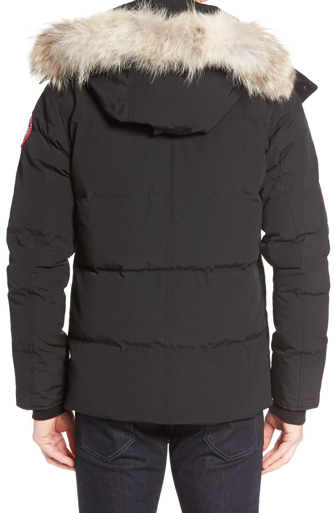Alternate Image 2  - Canada Goose Wyndham Slim Fit Genuine Coyote Fur Trim Down Jacket