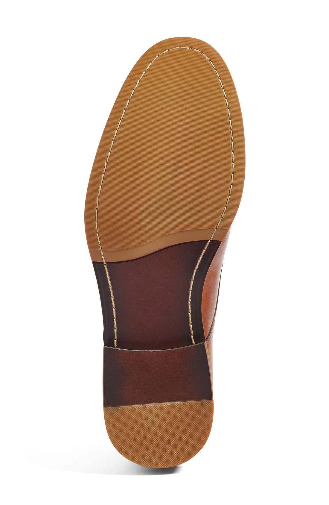 Everett Plain Toe Derby,                             Alternate thumbnail 4, color,                             Tan Leather
