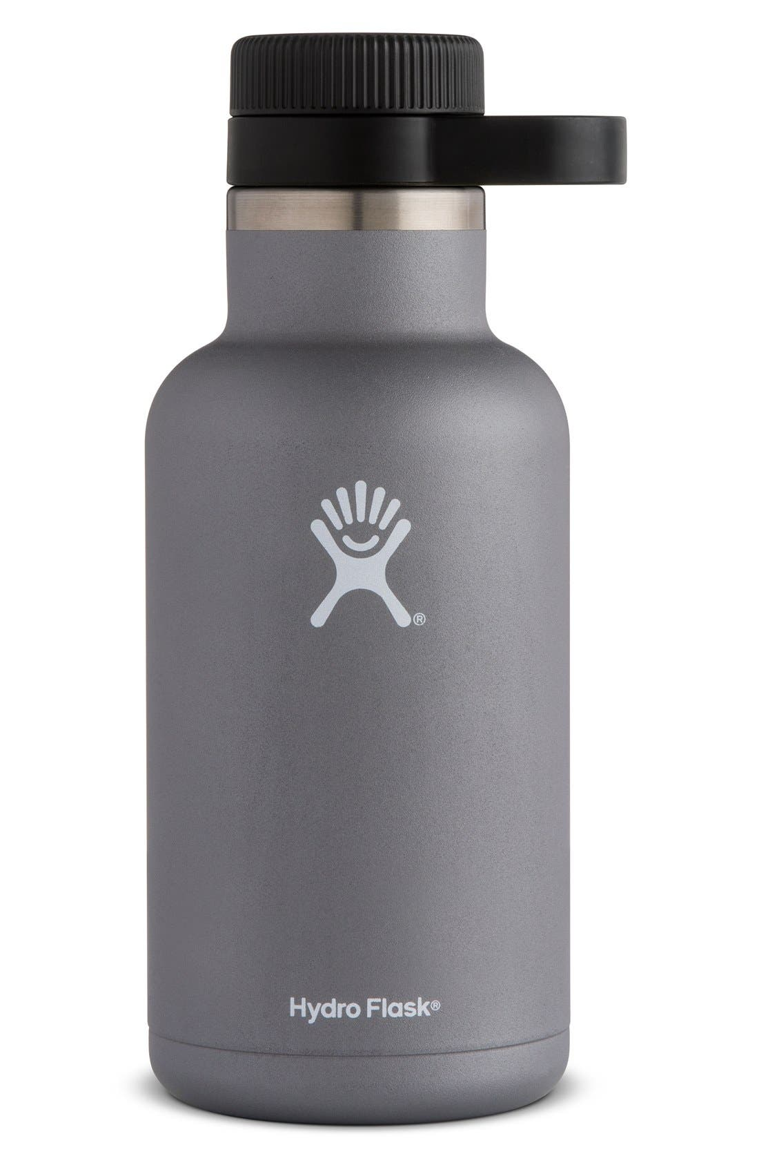 64-Ounce Wide Mouth Growler,                         Main,                         color, Graphite